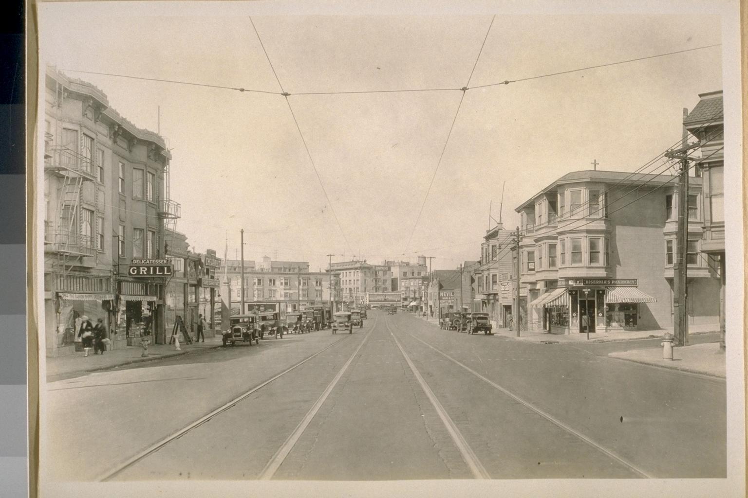 North on mission at precita 1926