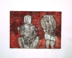 Untitled, Figures against Red