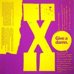 X give a damn