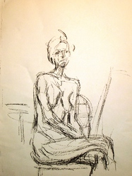 Untitled, Sitting Nude Woman