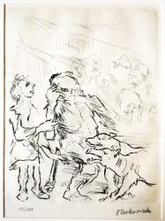 Dionysus and Xanthias Meet the Empusa
