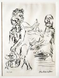 Dionysus, Aeschylus and Euripides Perform Sacrifices