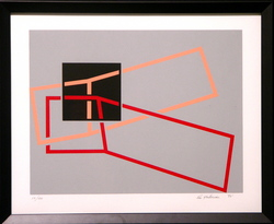 Composition in Grey and Red