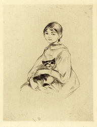 Girl with a Cat (Fillette au chat)